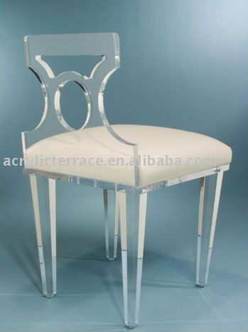 acrylic lucite vanity chair love the geometric shape of the back