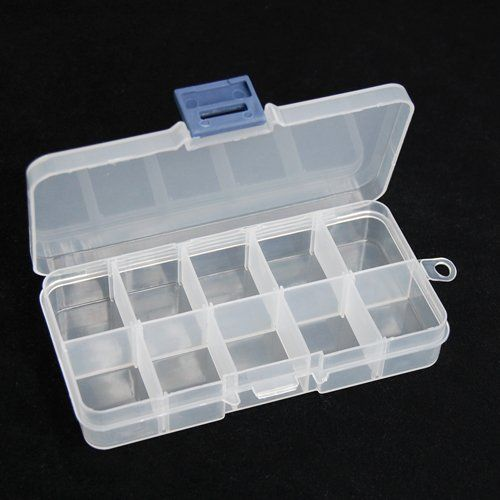 World Pride 10 Adjustable Compartment Clear Jewelry Storage Organizer Box Click On The Image For Plastic Box Storage Nail Art Hacks Jewelry Organizer Storage