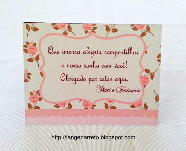 Agradecimento Mesa Com Imagens Tags Para Casamento Convite De