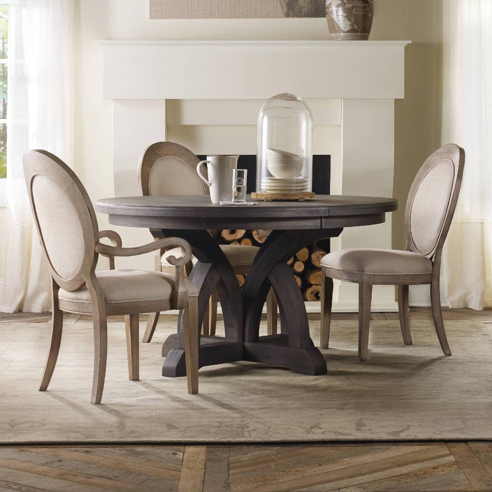 Hooker Furniture Corsica 5 Piece Round Dining Tables Set With Round Back Chairs Hook4411 Dining Room In 2019 Round Dining Table Sets Round Wood Dining T