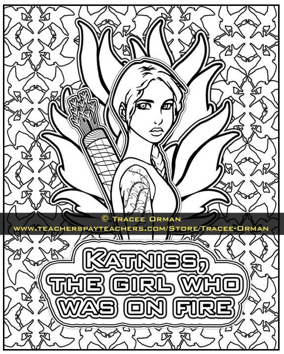 The Hunger Games Coloring Pages Book Coloring Pages Hunger Games Coloring Books