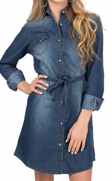 fd20a1741f6 Denim dresses are classic for fall! Western Dresses For Women