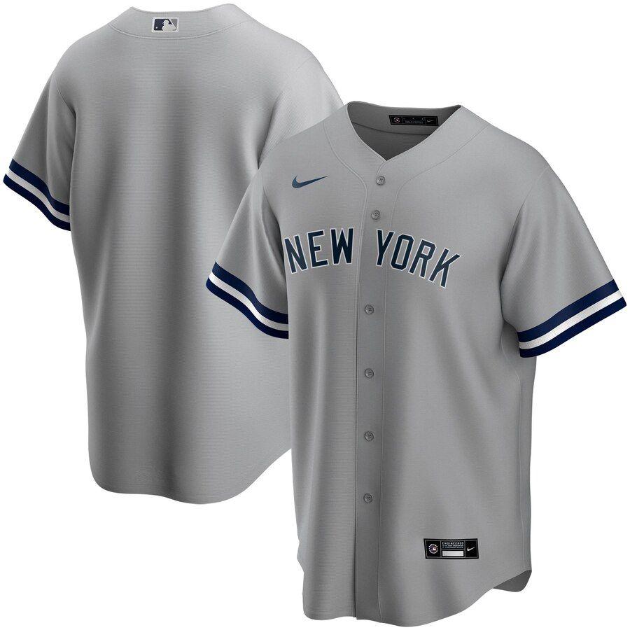 Men S New York Yankees Nike Gray Road 2020 Replica Team Jersey In 2020 New York Yankees Team Jersey Blue Jays Game