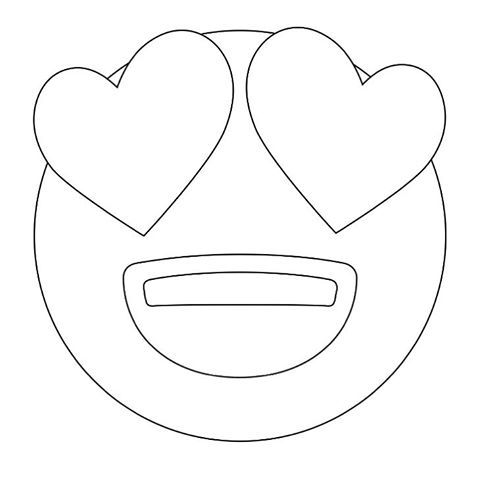 Free Printable Emoji Coloring Pages For Kids, Heart and Eye, Cool ... | 480x480