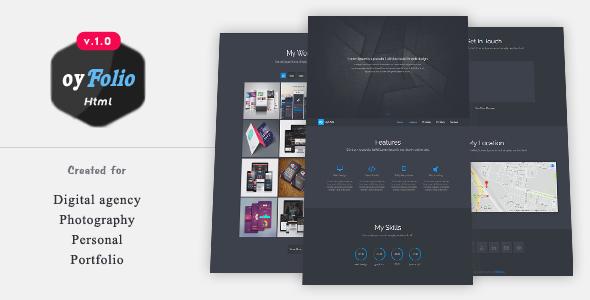 oyfolio responsive html portfolio template by webrouk descriptionoyfolio is a professional minimalist website template who need portfolio website