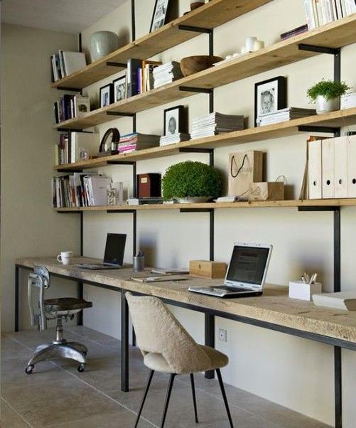 planken aan de muur inspiratie google zoeken interieur pinterest arbeitszimmer buero. Black Bedroom Furniture Sets. Home Design Ideas
