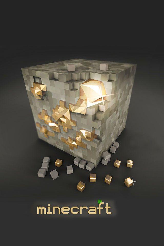 Minecraft Gold Block Minecraft Blocks Minecraft Wallpaper Minecraft