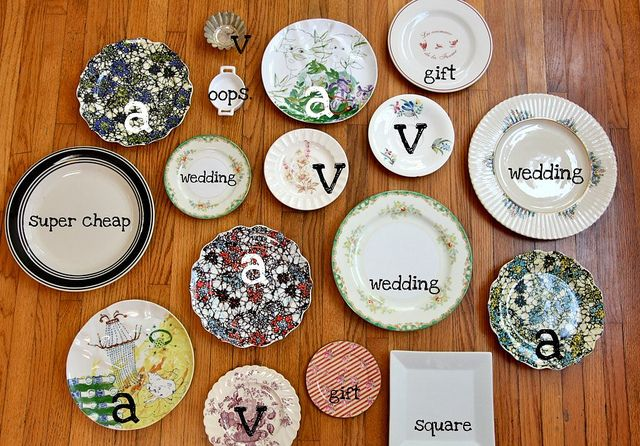 I love the idea of using an ecclectic variety of pretty plates, rather than one uniform set. So fun!
