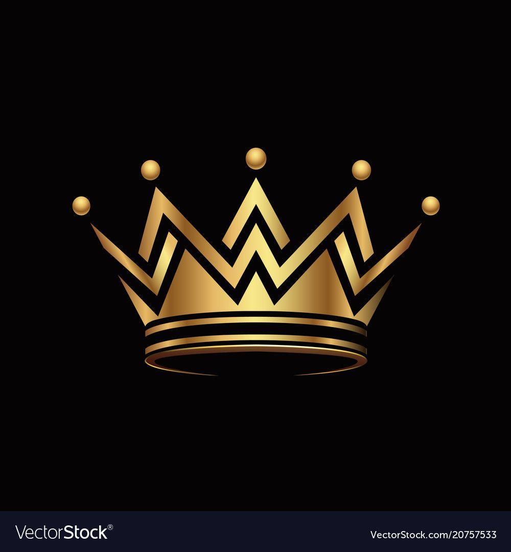 Crown Logo Abstract Design Vector Template Geometric Golden Symbol Logotype Concept Icon Geometric Golden Symbol Crown Logo Photo Logo Design Abstract Design