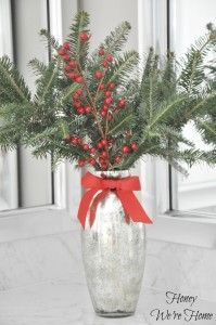 20 Simple Ways To Repurpose Leftover Christmas Tree Branches Christmas Party Centerpieces Leftover Christmas Tree Christmas Bathroom