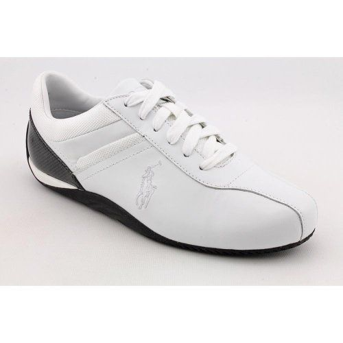 White Leather Sneakers Shoes Polo Ralph
