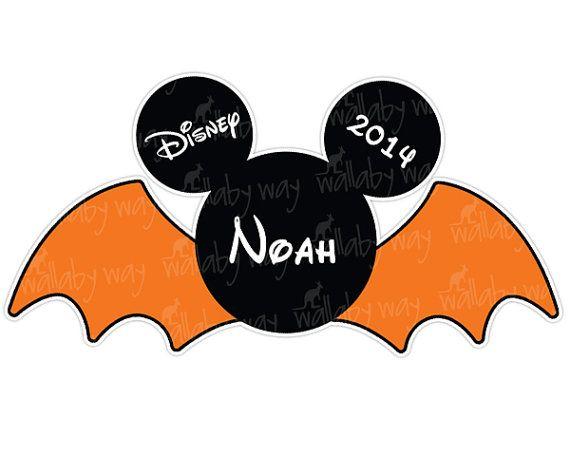 mickey bat halloween printable iron on transfer by thewallabyway rh pinterest com Halloween Border Clip Art Happy Halloween Clip Art