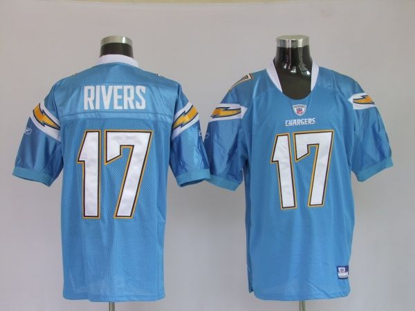 3cef29725ec ... American Football Jerseys New Style Top Brand 14.99 Reebok NFL Jersey  San Diego Chargers Philip Rivers 17 Lightblue ...