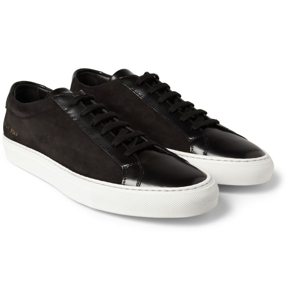 Common Projects - Achilles Leather and Suede Low Top Sneakers