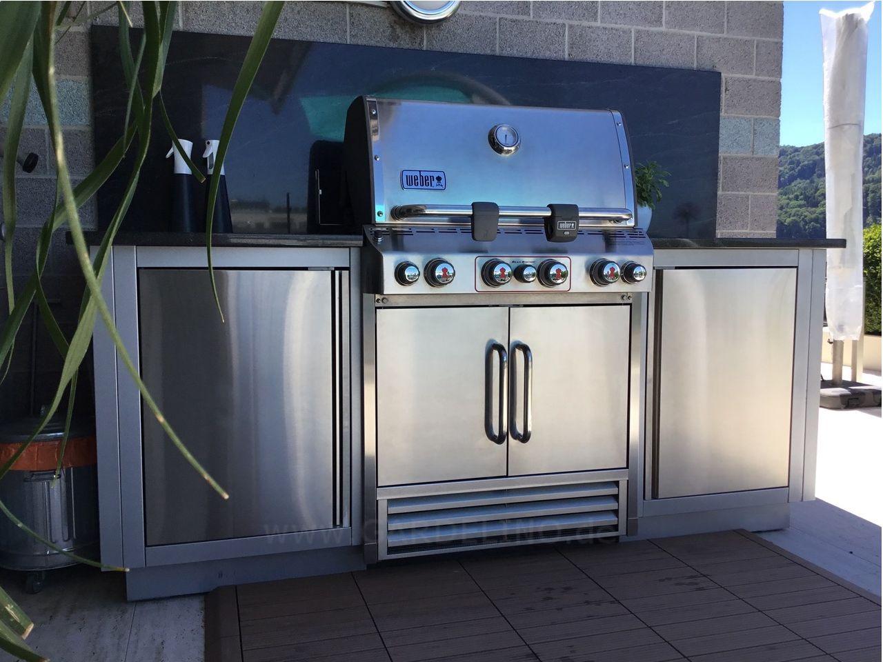 Aussenkuchensystem Oasis Von Napoelon Mit Einbaugrill Outdoor Kitchen System Oasis By Napoleon With Eingebauter Grill Kochen Im Freien Design Fur Aussenkuche