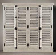 Shutter 4 Door Cabinet Schlafzimmer Schrankturen Diy Fensterladen Lamellenturen