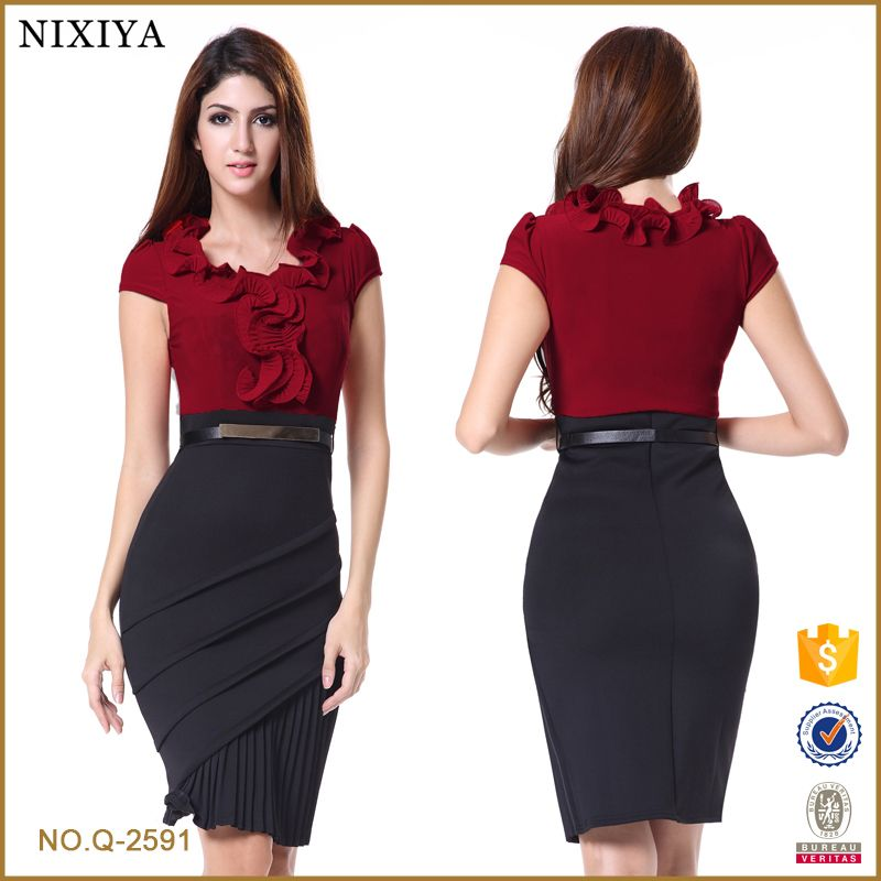 Diseños De Las Señoras Vestido Oficina Vestidos Desgaste La
