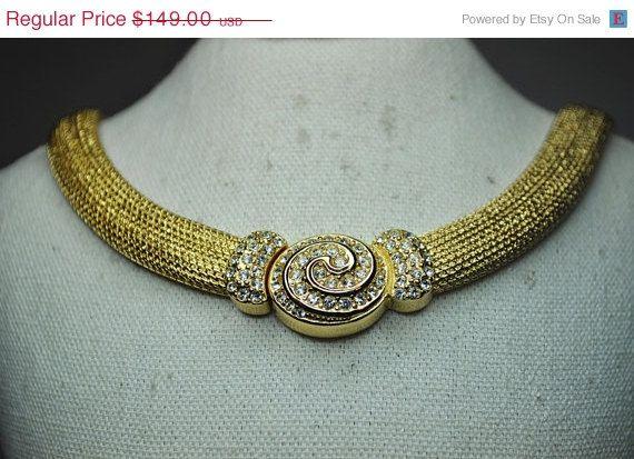 ON SALE CHRISTIAN Dior Vintage Wide Gold by HauteVintageJewels