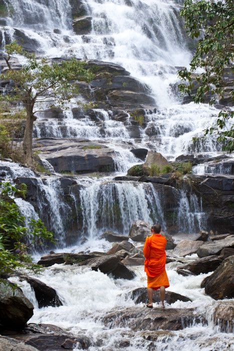 monk praying .