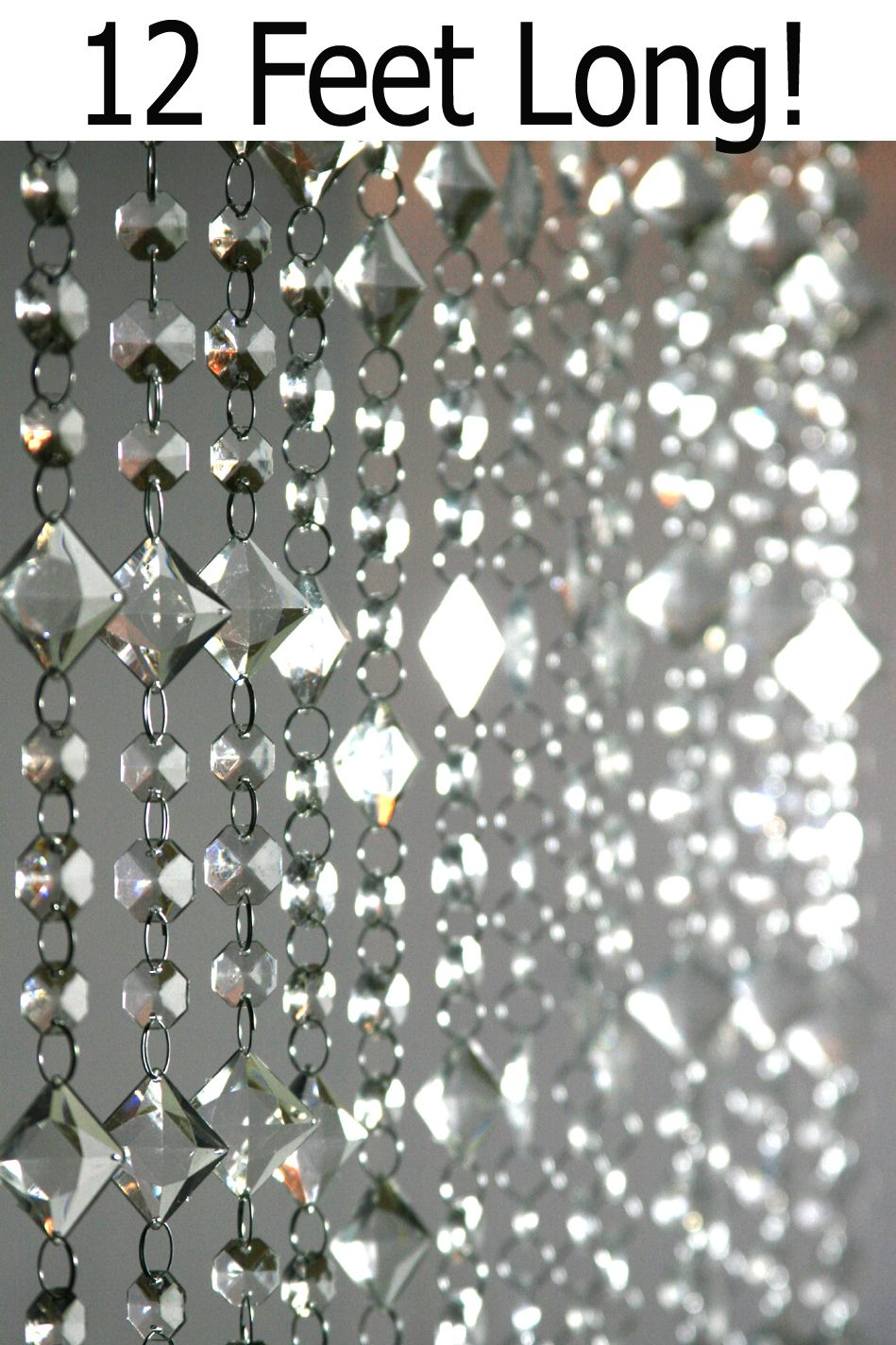 Ha hanging bead curtains for doorways - Aces And Eights 3 X 12 Crystal Bead Curtain 70 Will Cover Wall