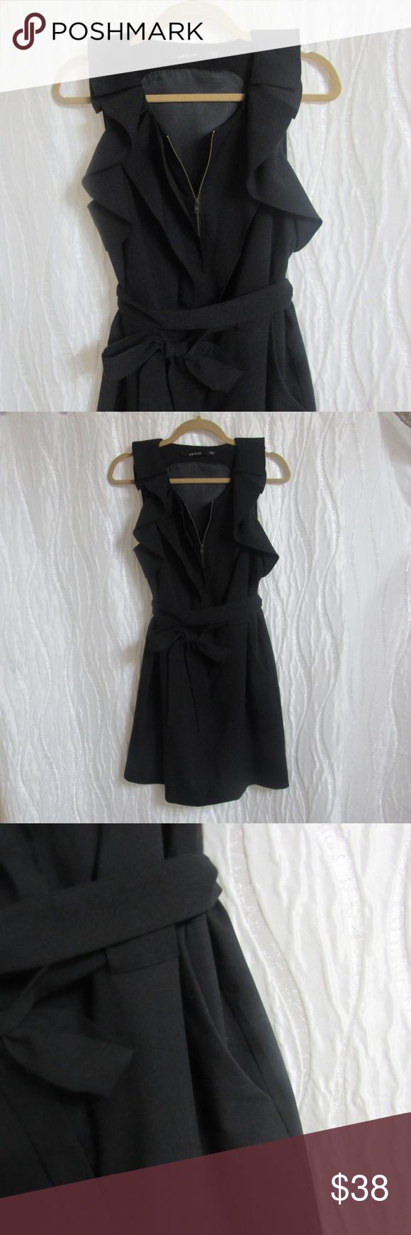Ark u co black wrap dress v neck size medium pinterest wrap