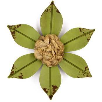 Distressed Metal Flower with Cloth Center   Decor   Pinterest   Wall ...