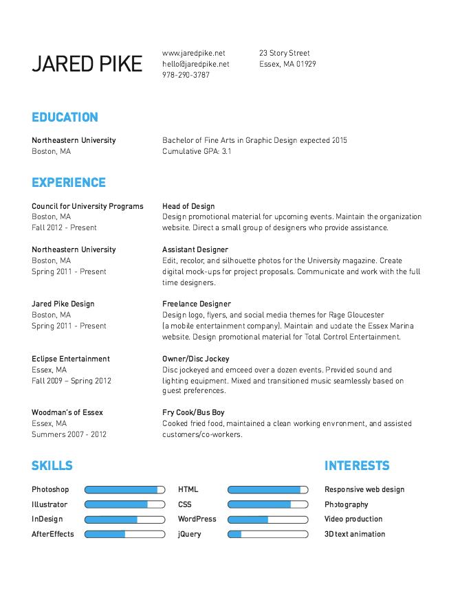 Graphic Arts Sample Resume  HttpResumesdesignComGraphicArts