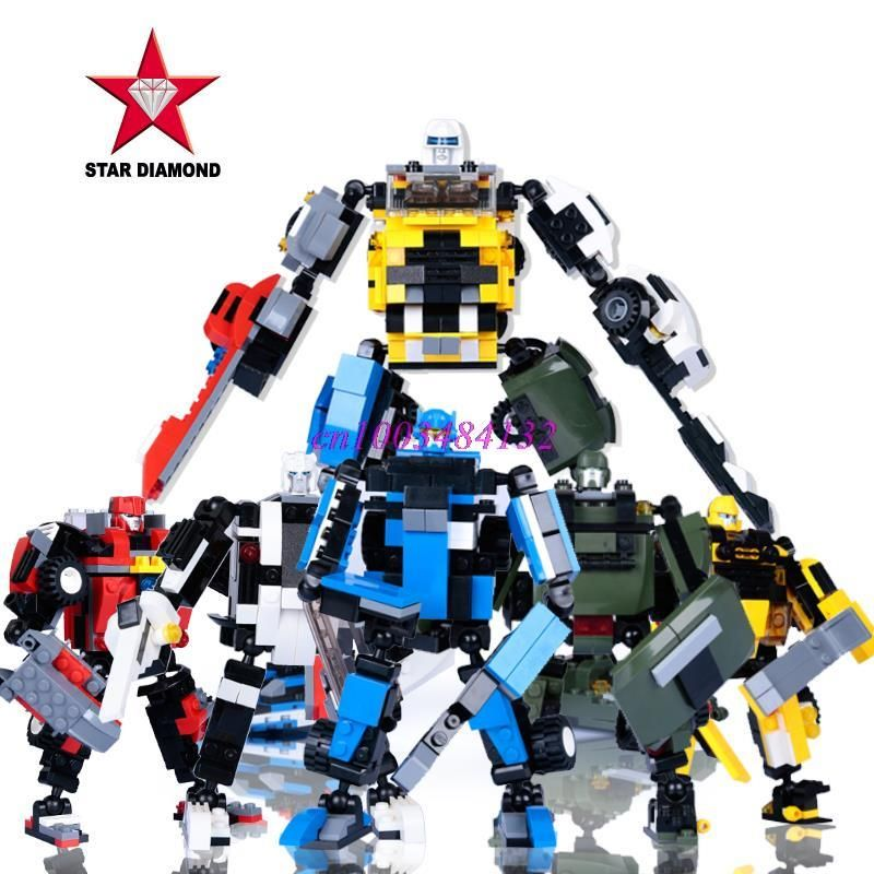 DiamondMax puzzle blocks children's toys assembled plug Transformers Star Wars robot warrior-in Action & Toy Figures from Toys & Hobbies on ...