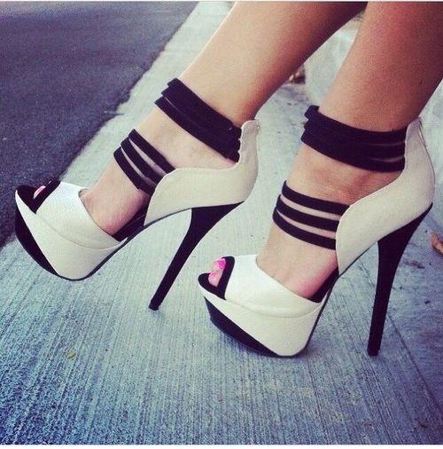 Sexy white heels.