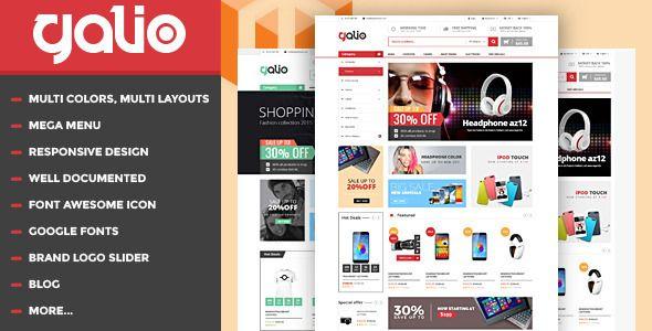 galio mega shop responsive html template shopping download