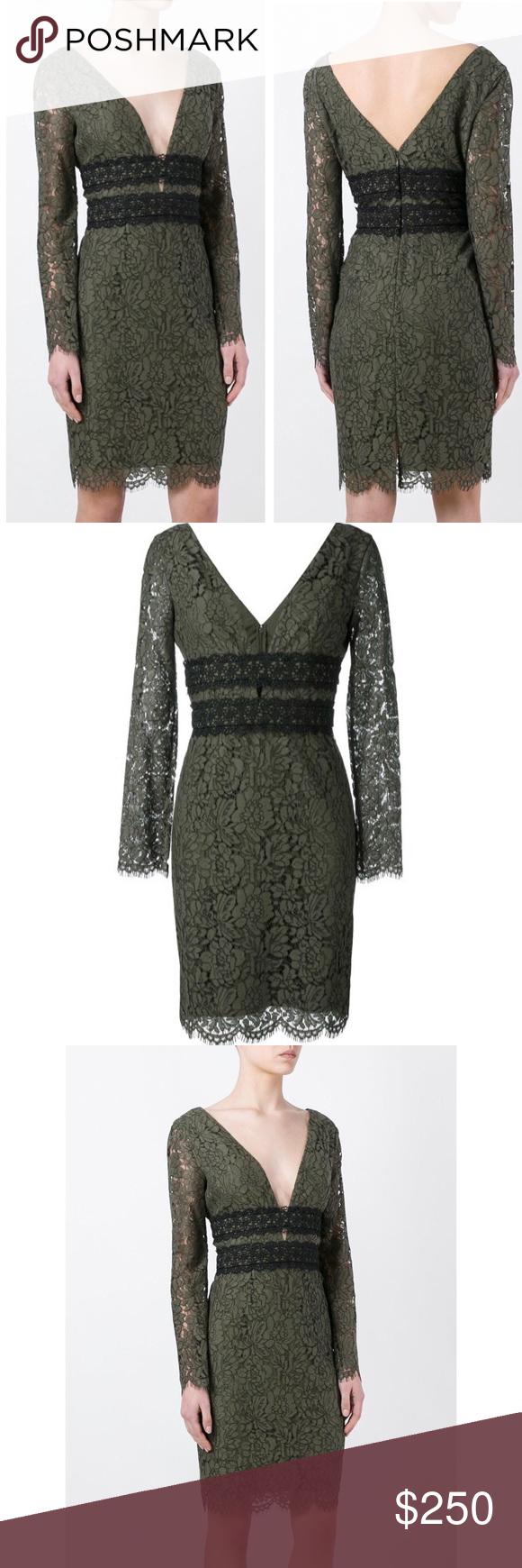 Dvf diane von furstenberg deep vneck lace dress in my posh