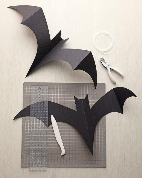 Hanging Bats Halloween Diy Halloween Bats Halloween Crafts