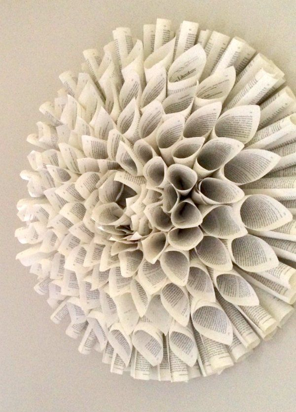 how to make a book page wreath and more book art ideas - Book Pages Art
