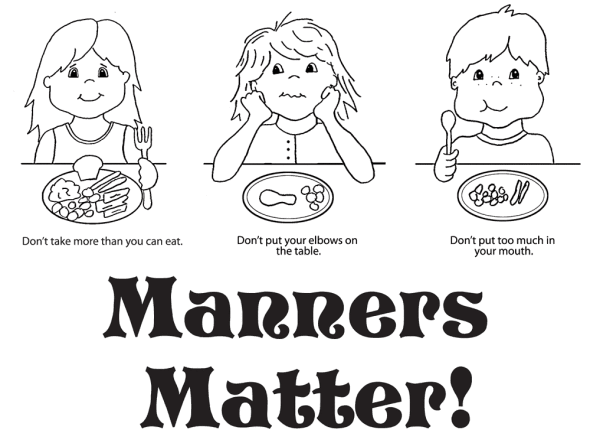 manners coloring pages Manners Coloring Pages for Preschool | october categories art  manners coloring pages