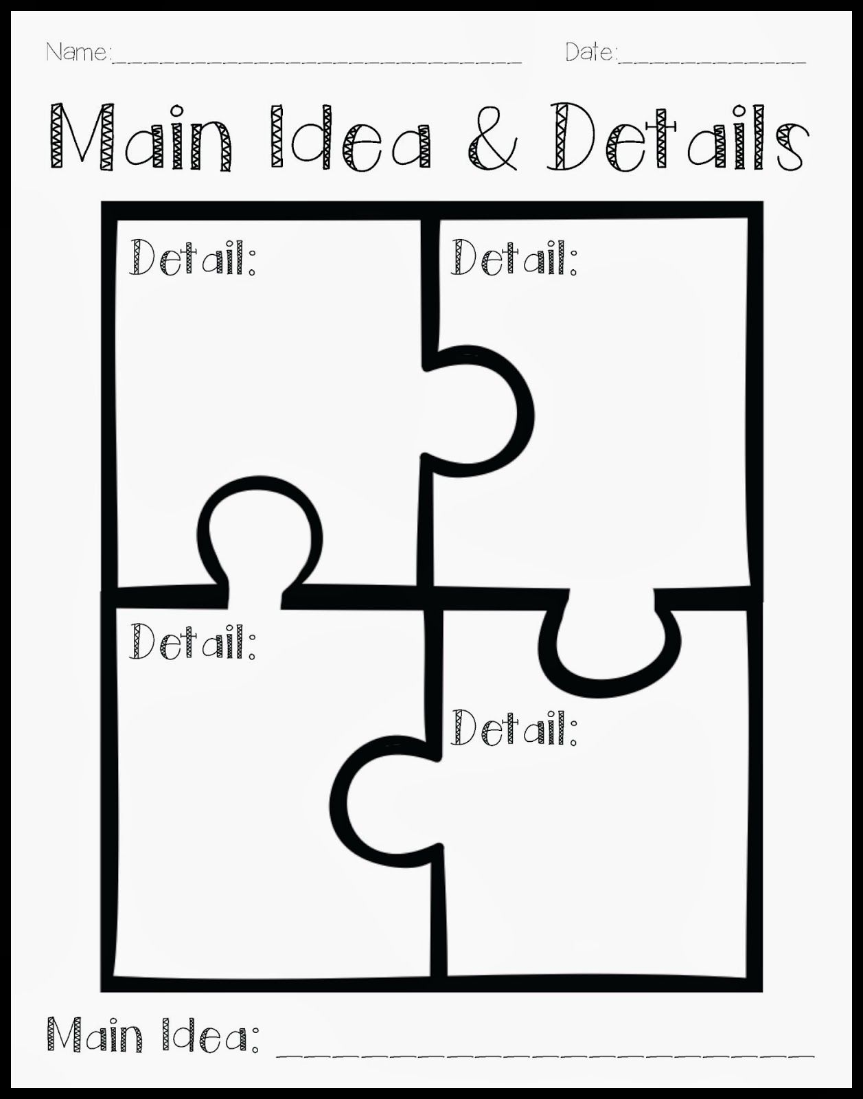 worksheet Main Idea Worksheets For 2nd Grade 1000 images about main idea activities for home or speech therapy on pinterest texts graphic organizers and anchors
