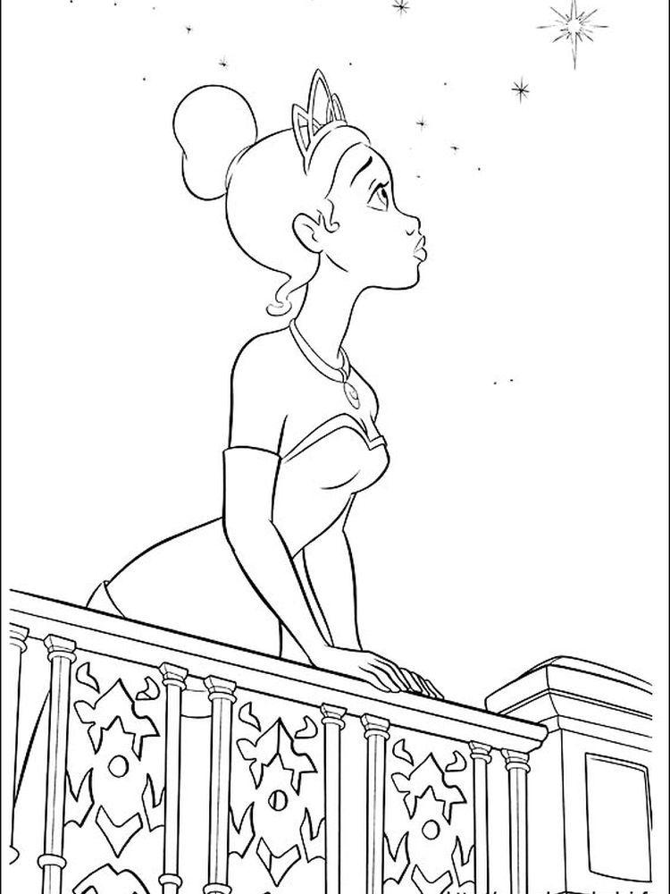 Free Printable Princess Tiana Coloring Pages For Kids | Princess ... | 1000x750