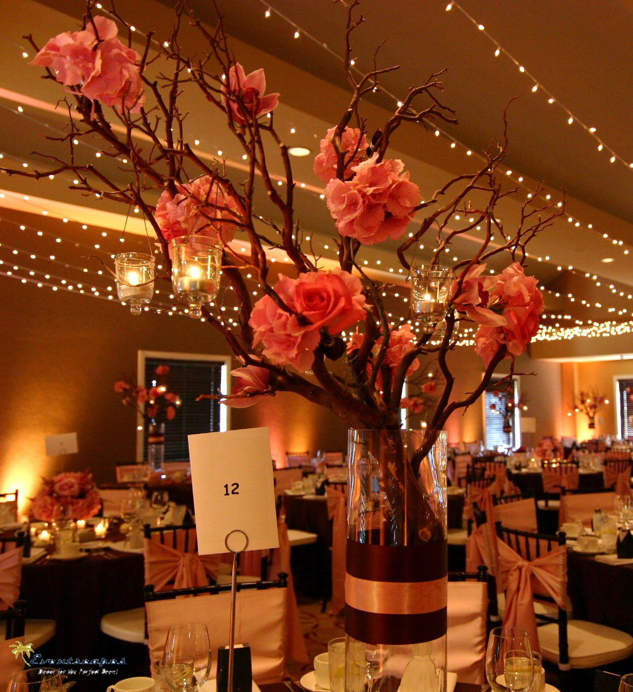 Fall Wedding Decoration Ideas On A Budget: Orange Wedding Centerpiece Ideas