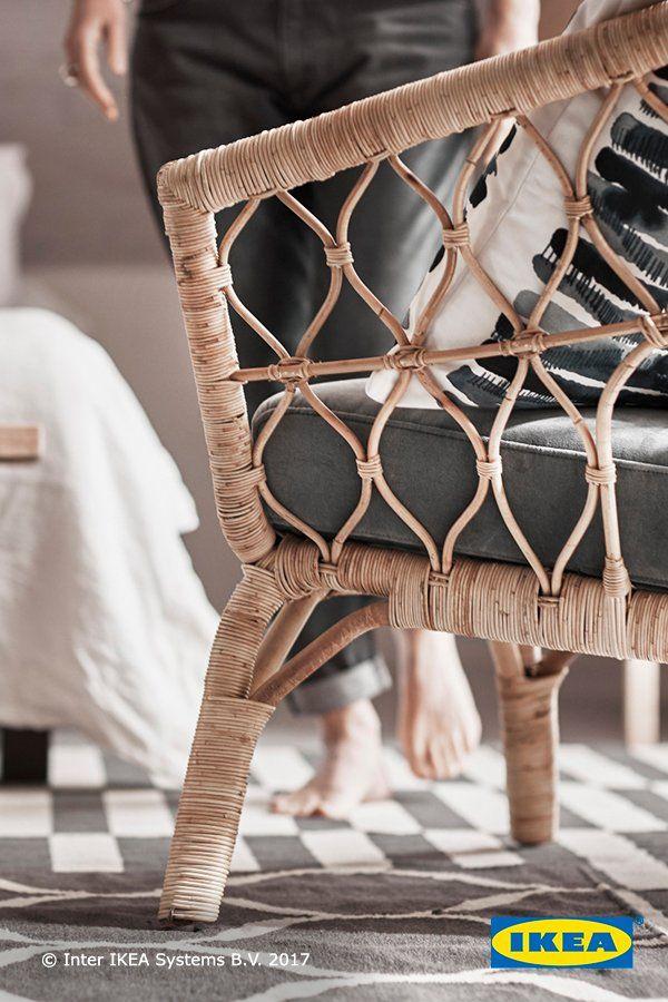 STOCKHOLM 2017 Chair With Cushion, Rattan, Sandbacka Dark Gray | Pinterest  | Ikea Stockholm, Rattan And Stockholm