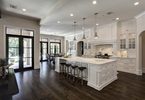 Large Kitchen Island Designs And Plans: Simmons Estate Homes, Southlake, TX. (Georgiana Design