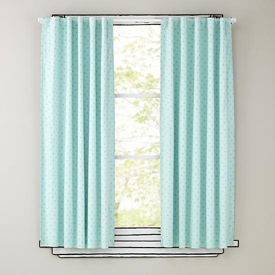 Dream Girl Polka Dot Blackout Curtains Aqua In Curtains