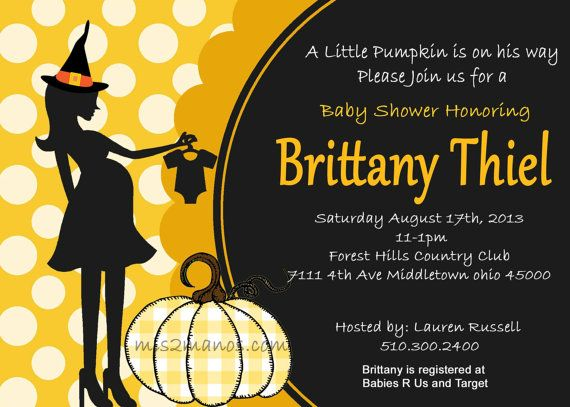 Halloween Baby Shower Invitation Pumpking Baby By MMPartyDesigns - Halloween baby shower invitations