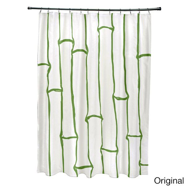 71 X 74 Inch Earthtone Bamboo Print Shower Curtain   Overstock™ Shopping    The