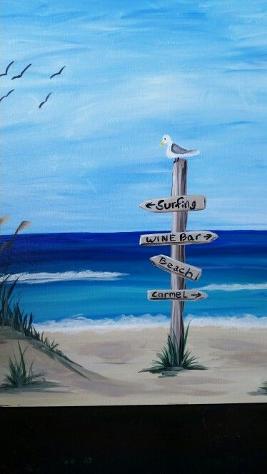 Life S A Beach Acrylic Paint Your Own Masterpiece Party Sip Some