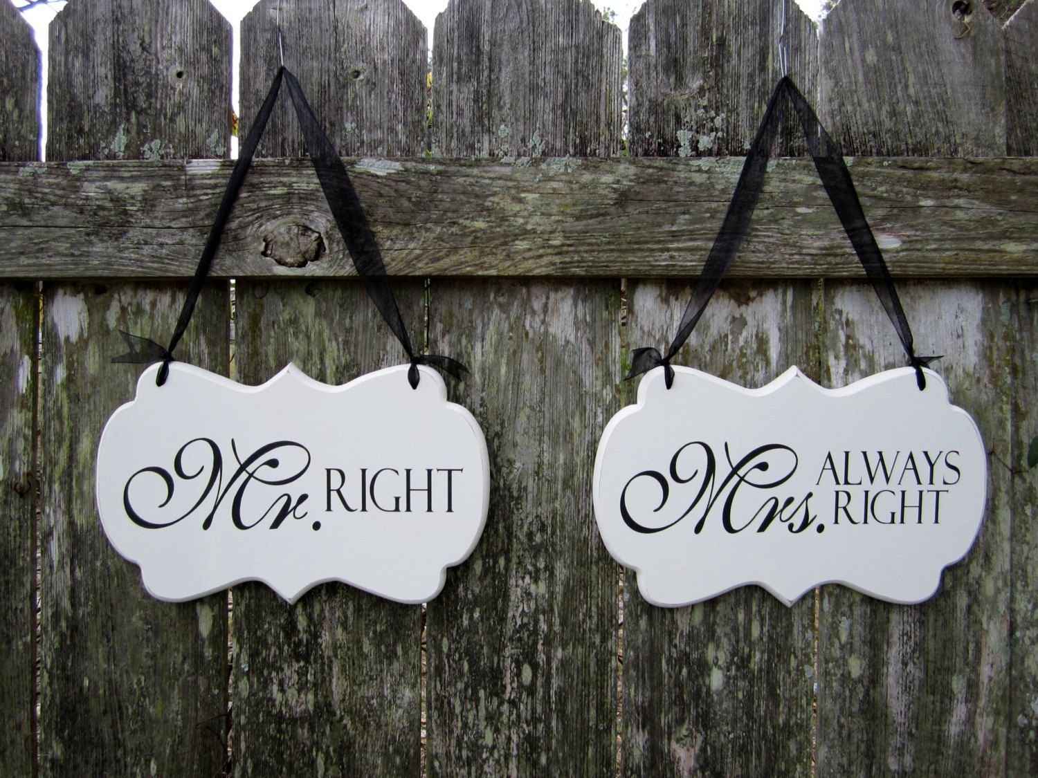 Wedding signs hand painted wooden shabby chic decoration signs mr wedding signs hand painted wooden shabby chic decoration signs mr right junglespirit Choice Image