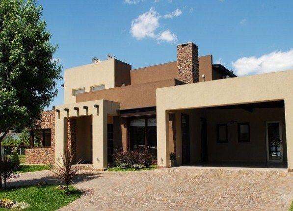 Casas modernas de color beige color fachada pinterest - Pintura casa moderna ...