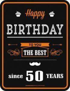 Cute Funny Happy 50th Birthday Wishes
