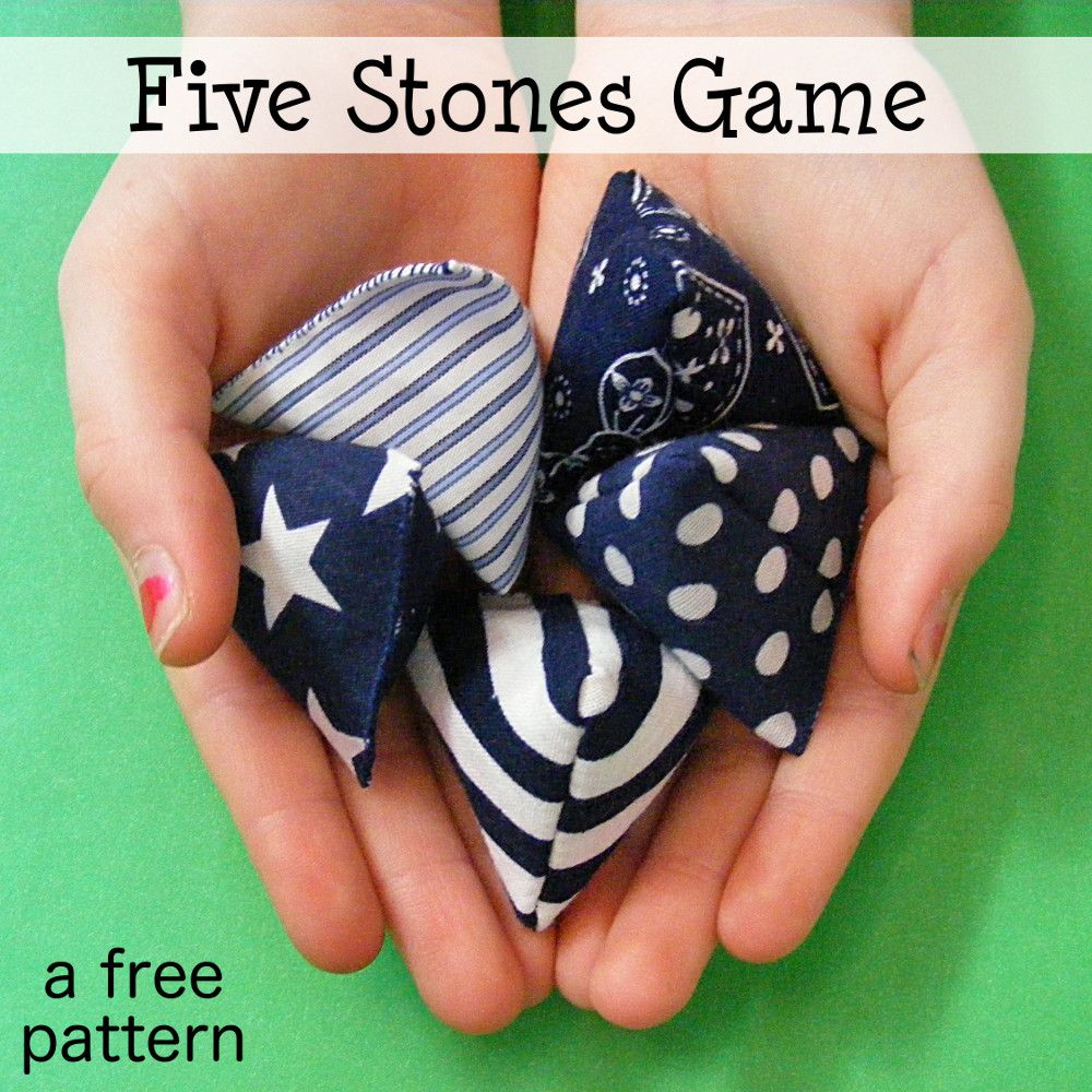 Free Pattern Five Stones Game Stone Game Sewing Projects For Kids Sewing Patterns Free