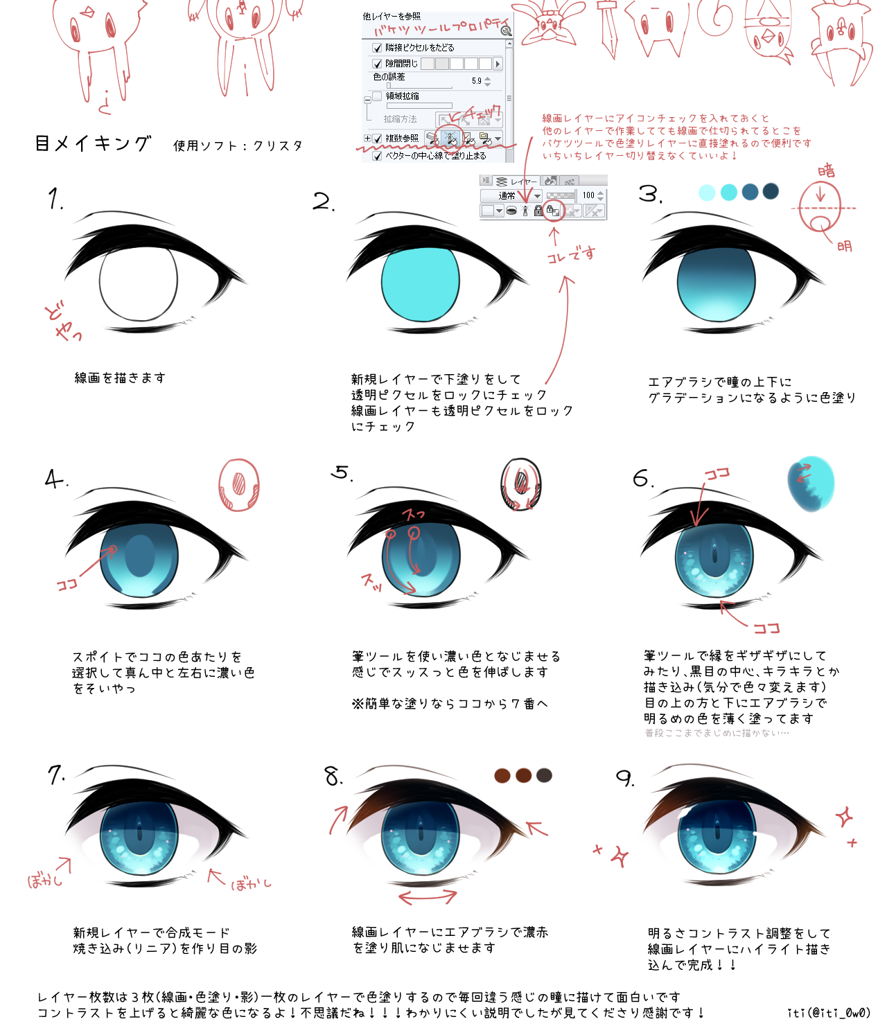 Anime Eyes Eye Drawing Tutorials Digital Painting Tutorials Anime Eyes