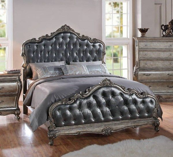 Acme Furniture Chantelle Queen Panel Bed
