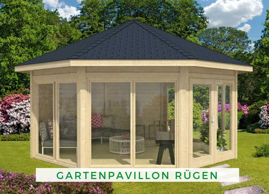 Gartenpavillon Modell Rugen Mit Vier Fenstern Garten Pavillon Holz Pavillon Gartenhaus Rund